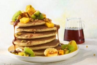 Ma recette express de pancakes sans gluten aux fruits exotiques