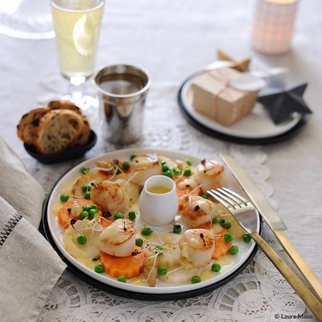 labelaure blog culinaire photographe culinaire recette plat Noël couronne légumes et noix de saint-jaques sauce beurre blanc poivre sauvage de Madagascar