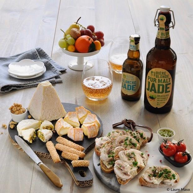blog labelaure blogueuse culinaire photographie culinaire recette planche apéritive bière bio jade plaisir amis