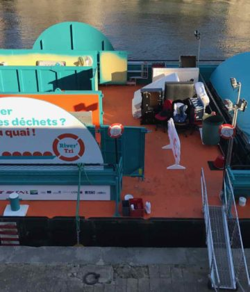 RIVER TRI : Une déchetterie fluviale à Lyon