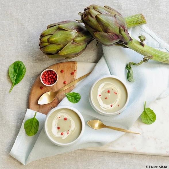 labelaure blog culinaire photographe culinaire recette entrée Noël velouté artichaut végétarien picard surgelés