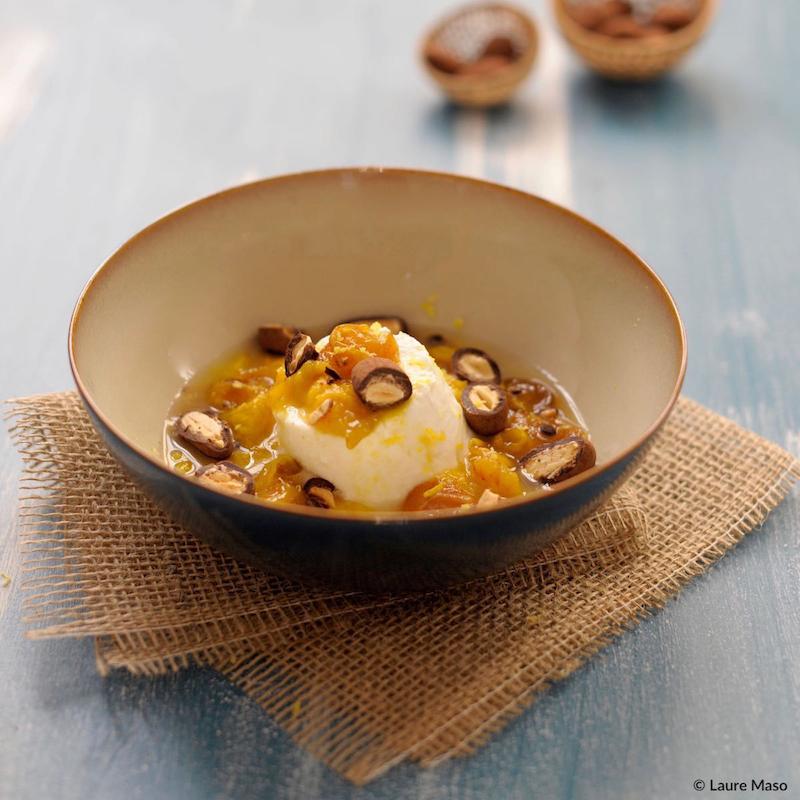 labelaure blog culinaire recette faisselle chèvre compote mirabelle pralino chocolat noir poudré francois douce confiseur photo culinaire