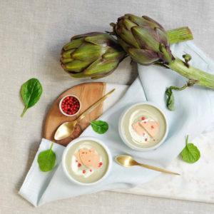 labelaure blog culinaire photographe culinaire recette Noël velouté artichaut morceau foie gras canard picard surgelés