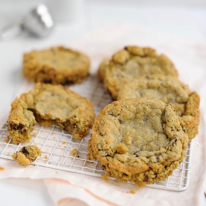 labelaure blog culinaire photographe culinaire food edition recette oatmeal crispy cookies flocons d'avoine