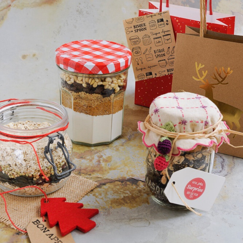 Idée de cadeaux de Noël écolo à petits prix : kits gourmands à offrir