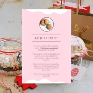 labelaure agence de communication culinaire lyon 2 dit kit gourmand petit budget noel recette cookie avoine chocolat noix