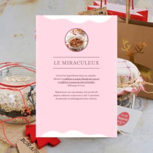 labelaure agence de communication culinaire lyon 2 dit kit gourmand petit budget noel recette granula flocons avoine sarrasin