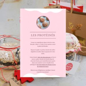 labelaure agence de communication culinaire lyon 2 dit kit gourmand petit budget noel recette protéine balls energy balls datte cacahuète chia peanut butter