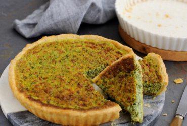 La recette conviviale et pleine d'originalité de la quiche au cresson et chèvre frais