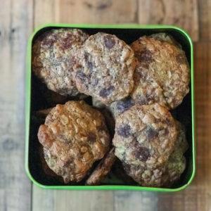 blog labelaure création de recettes gâteau suédois flocon avoine pépites de chocolat noir