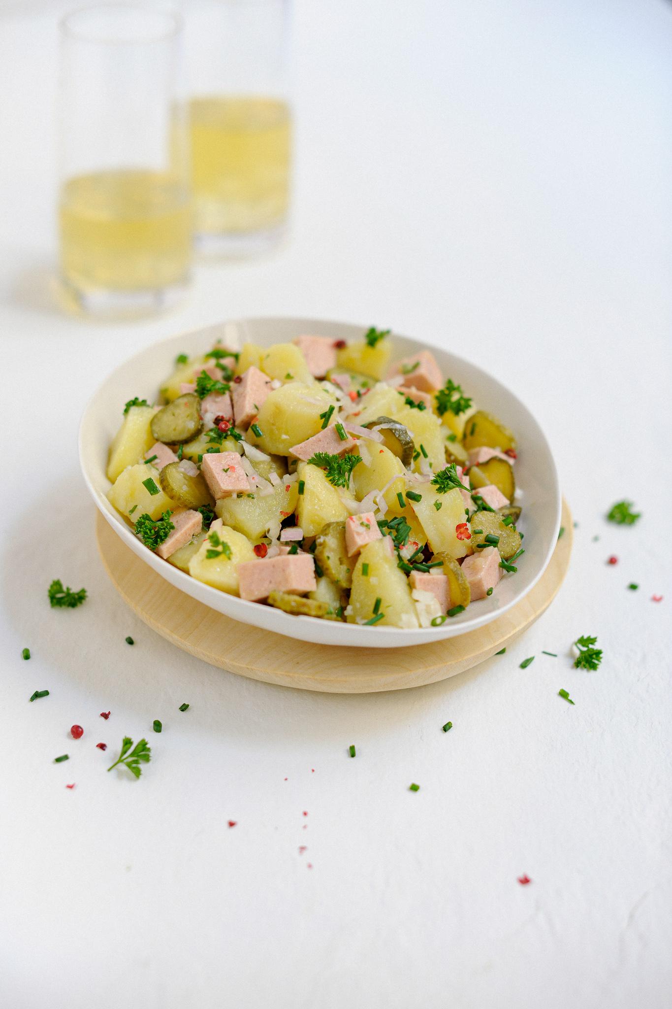 blog labelaure photographe et styliste culinaire salade tiède de pommes terre cervelas