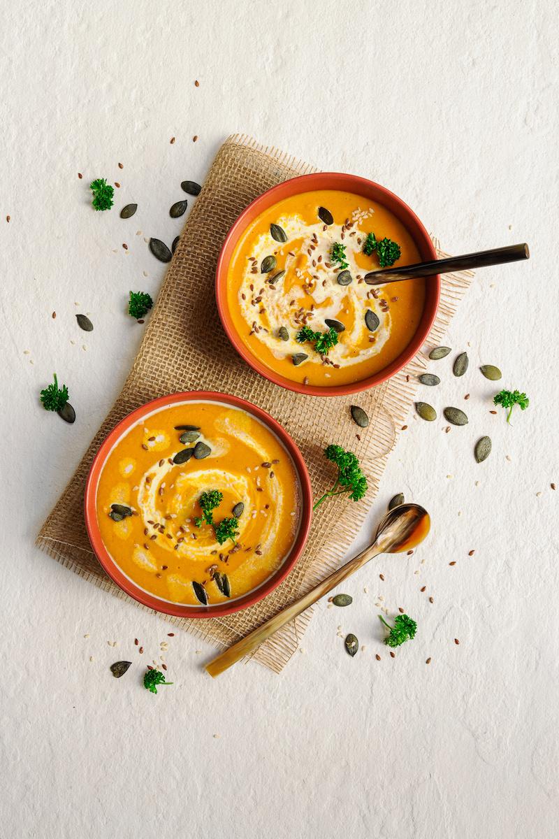 blog labelaure styliste photographe culinaireidée recette saine veggie velouté épicé lentilles corail