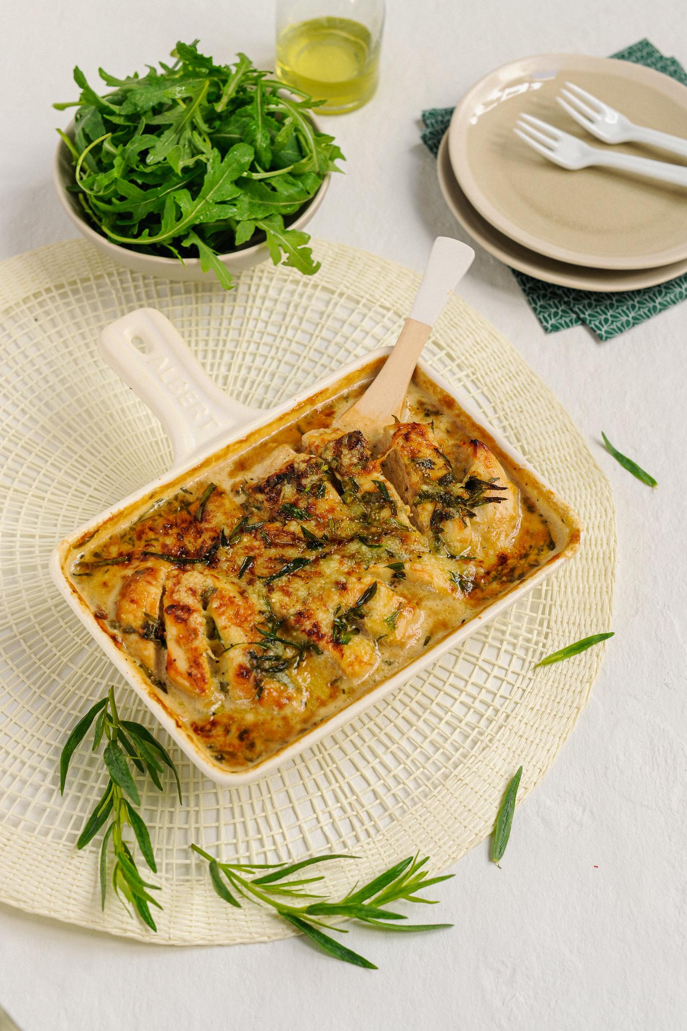 blog culinaire photographe culinaire lyon recette poulet estragon sauce worcestershire