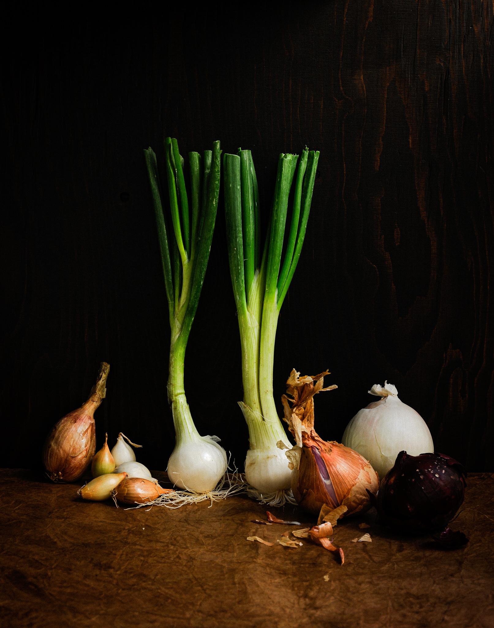blog labelaure food stylist photographe culinaire empreinte carbone score carbone CO2 elevé étiquette A+ oignons ail échalotes