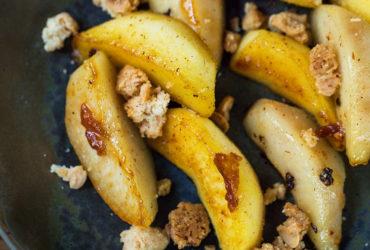 Méli-mélo de pommes et poires caramélisées, aromatisées aux baies des cimes du Vietnam