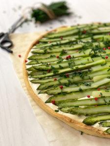 stylisme culinaire food photography agence communication culinaire tarte asperges mayonnaise allégée ciboulette baie rose